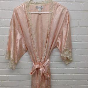 Vintage 1980's Christian Dior Pink Robe Size Med